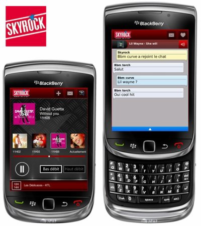 L'application BlackBerry Skyrock 