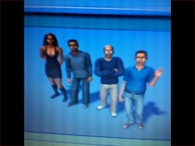 Les membres de l'quipe en Mode Sims ! 