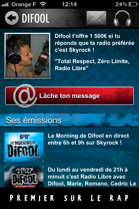 LA NOUVELLE APPLICATION SKYROCK A PARTIR DE LUNDI 