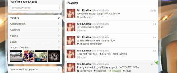 Le tweet de Wiz Khalifa pour Romano 