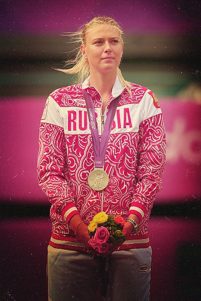 Maria SHARAPOVA mdaille d'argent aux Jeux Olympiques 2012. So Nicely !!!